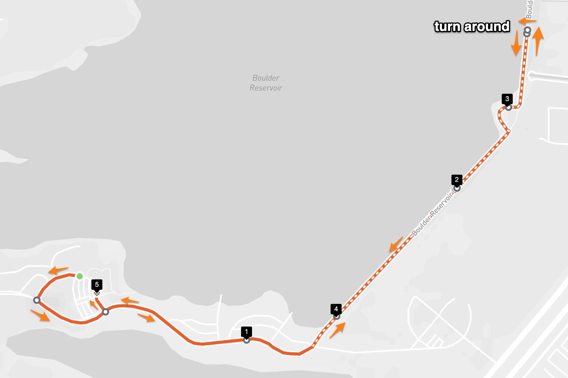 Dash & Dine 2021 Course Map