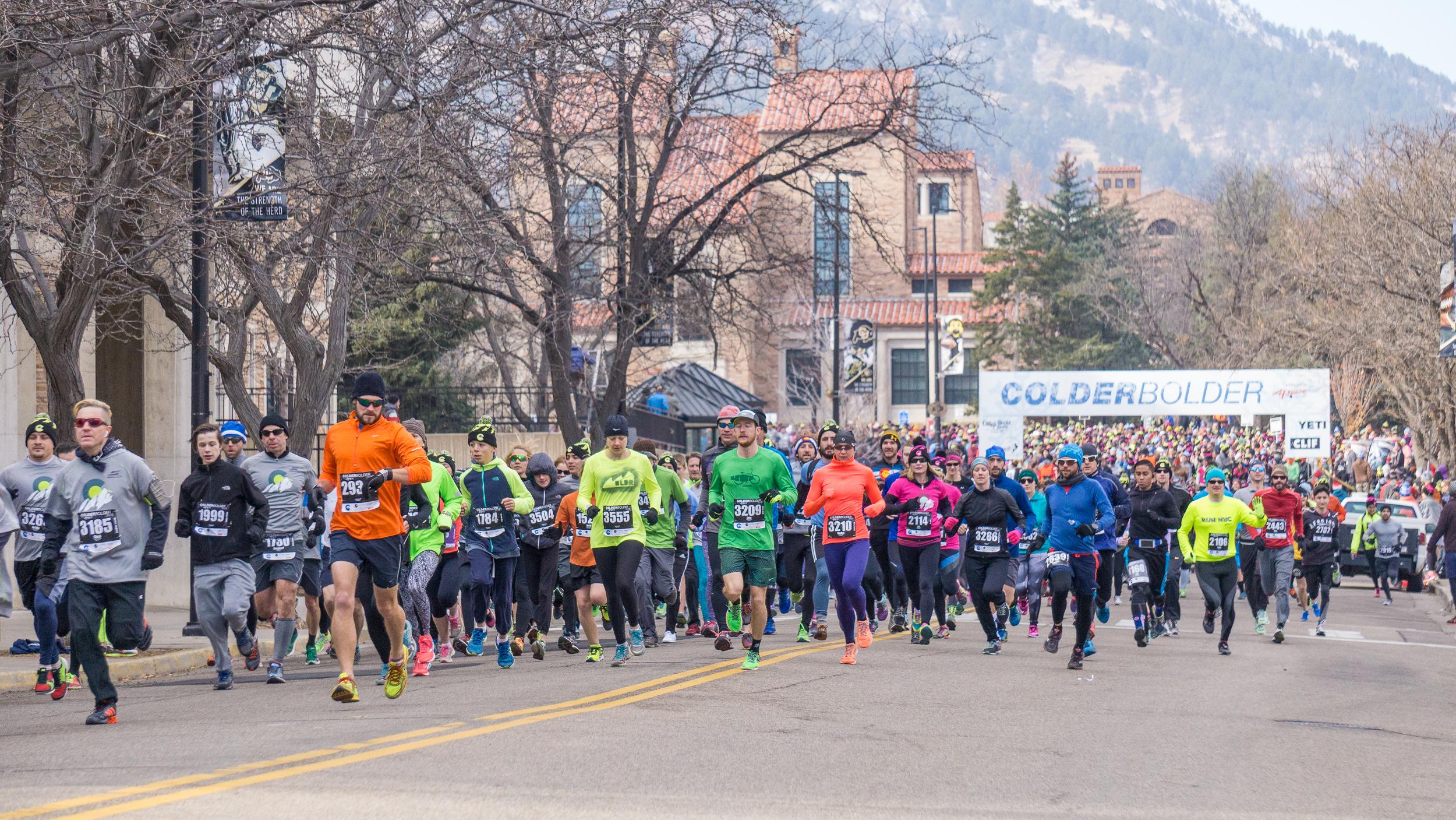 ColderBOULDER 5k races Boulder
